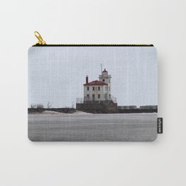 Mentor Headlands Lighthouse in Winter Carry-All Pouch