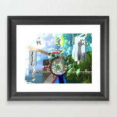 te6ab1et Framed Art Print