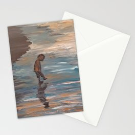 Kid in the Water Stationery Cards