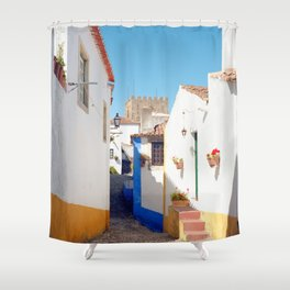 Portugal, Obidos (RR 184) Analog 6x6 odak Ektar 100 Shower Curtain