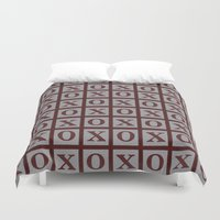 xoxo Duvet Covers featuring XOXO by LLL Creations
