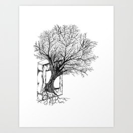 Replacing Nature with Knowledge Art Print
