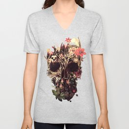 Bloom Skull Unisex V-Neck