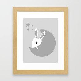 Bunny And The Moon Framed Art Print