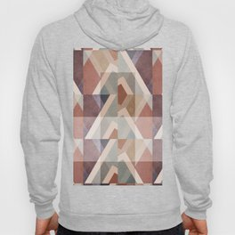 Textured Geometric Abstract Hoody