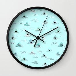 Sharkhead - Shark Pattern Wall Clock