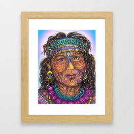 Wisdom Keeper Color #41 (Anticipation) Framed Art Print