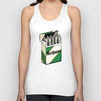 marijuana Tank Tops featuring Mainstream Marijuana by Kelsey Dake