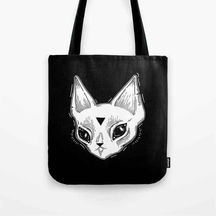 White Kitten Tote Bag