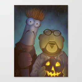 Muppet Maniac - Dr. Honeydew & Beeker as Michael Myers & Dr. Loomis Canvas Print
