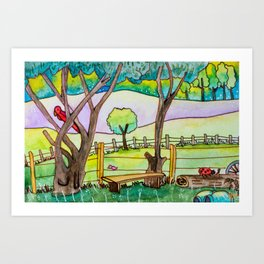 A cute landscape Art Print