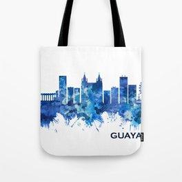 Guayaquil Ecuador Skyline Blue Tote Bag
