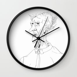 Old Man with a Necktie Wall Clock