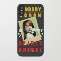 lindsay lohan iPhone & iPod Cases featuring Lindsay Lohan Is My Spirit Animal by Jason The Real McKoy