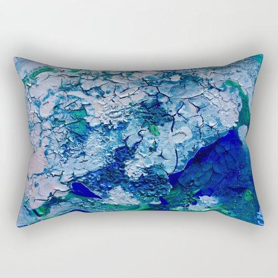 Imagined Ocean View From Above Rectangular Pillow