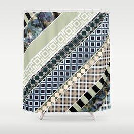 Folk textiles , patchwork Shower Curtain