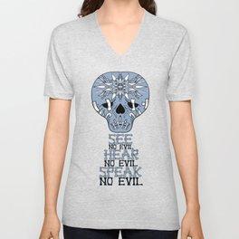 Cute Skull See no Evil Unisex V-Neck