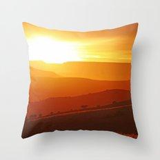 Golden morning in Africa Throw Pillow