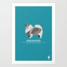 Keeshond Art Print