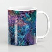 snake Mugs featuring snake by Marta Olga Klara