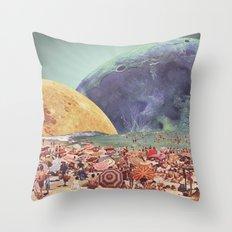 Lunar Beach Throw Pillow
