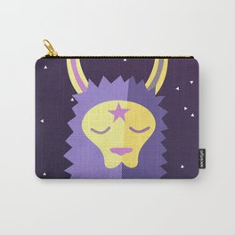 Yacana: The Space Llama Head (Lilac) Carry-All Pouch