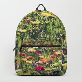 Happy summer meadow vintage style Backpack