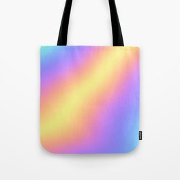 Colorful Gradient Abstract Rainbow Pattern Holographic Foil Tote Bag