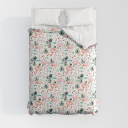 AWKWARRRD Pink Flamingos Comforters