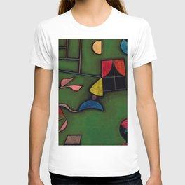 """Paul Klee """"Pflanze und Fenster Stilleben (Still life with Plant and Window)"""" T-shirt"""