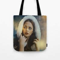 belle Tote Bags featuring Belle by Rose's Creation