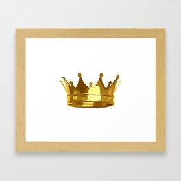 Royal Shining Golden Crown for King or Queen Framed Art Print