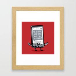 Not-So-Smart Phone Framed Art Print