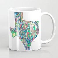 texas Mugs featuring Texas by Laura Maxwell
