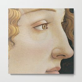 Botticelli c 1480 Portrait of Simonetta Vespucci detail Metal Print