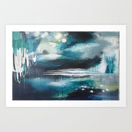 Shipwreck Original Painting by Rachael Rice Art Print