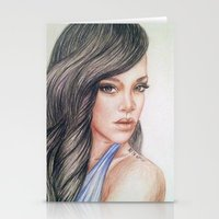 rihanna Stationery Cards featuring RIHANNA by Hileeery