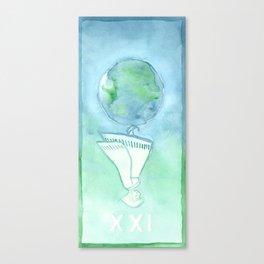 Tarot 21: The World Canvas Print