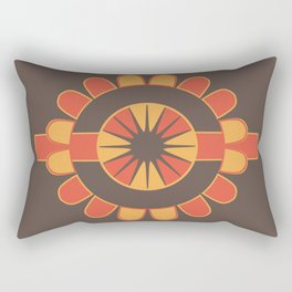 Stylized geometric flower Rectangular Pillow