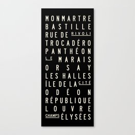 Paris Sign Style Canvas Print