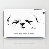 shih tzu iPad Cases featuring Shih Tzu With An Attitude By Annie Zeno  by Annie Zeno