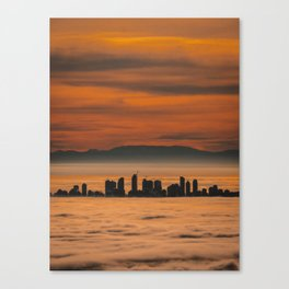Vancouver - Sea of Clouds Canvas Print