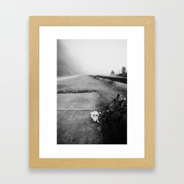 The loneliest road. Framed Art Print