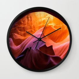 Antelope Canyon, layers and colours Wall Clock