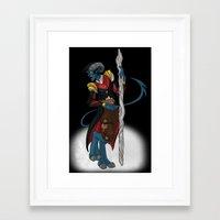 nightcrawler Framed Art Prints featuring Fantasy Nightcrawler by quietsnooze