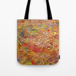 Gold light interlacing straw Tote Bag