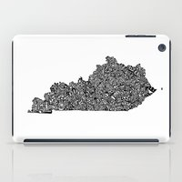 kentucky iPad Cases featuring Typographic Kentucky by CAPow!