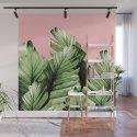 Blush Banana Leaves Dream #10 #tropical #decor #art #society6 by anitabellajantzart