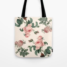 Rose Garden Butterfly Pink Tote Bag