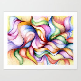 Colour Forming Art Print